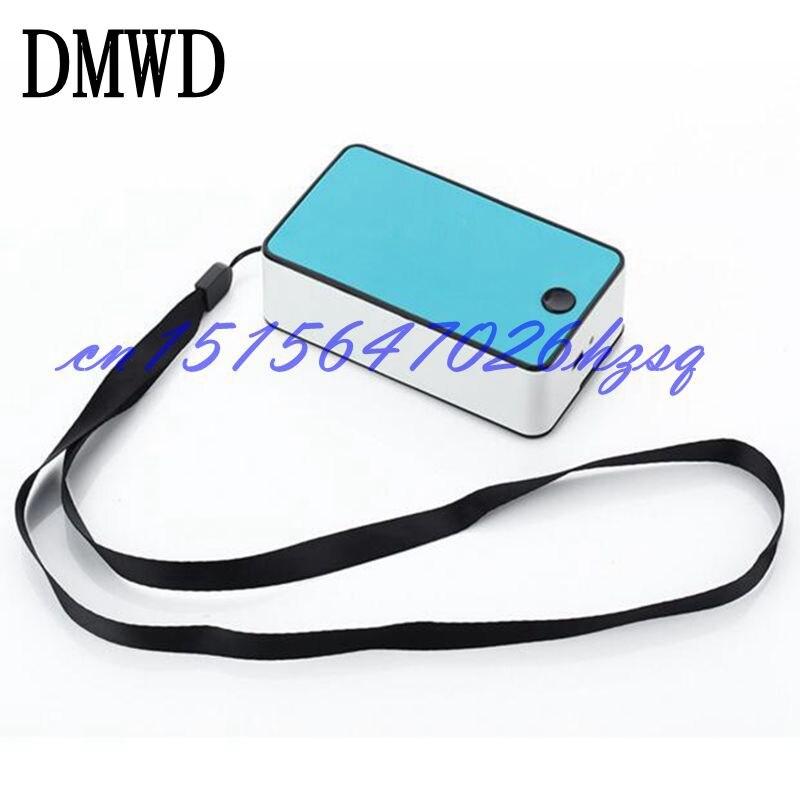 DMWD Mini Électrique ventilateur de poche d'air conditionné ventilateur batterie Au Lithium de charge USB sans vane air de refroidissement ventilateur dortoir Des Ménages