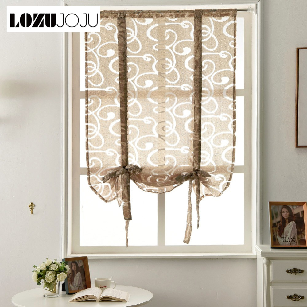 Lozujoju Free Shipping Curtain Kitchen Short Jacquard