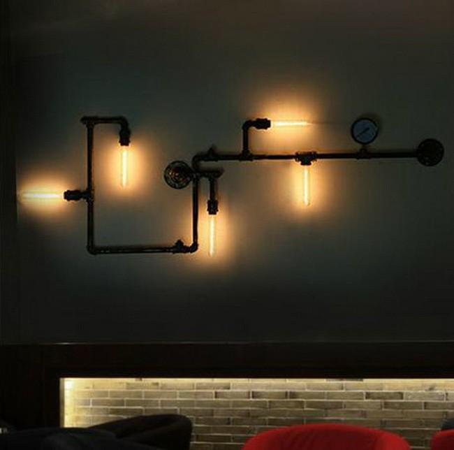урожай американский турок водопровод стиль лампы олицетворяет гнездо светильники bra освещение 5 * Е27