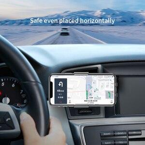 Image 5 - Baseus chargeur de voiture sans fil infrarouge pour iPhone XS XR Samsung S9 rapide QI chargeur sans fil évent montage voiture support de téléphone