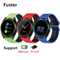 Fuster V9 Sport Smart Watch Bluetooth 4.0 Touch Screen Wristwatch support Pedometer and Sleep Monitor SIM Card and Camera Watch