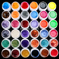 Hot DIY 36 PCS Mix Colors Pearl UV Builder Gel Acrylic Nail Art Set for Nail Tips
