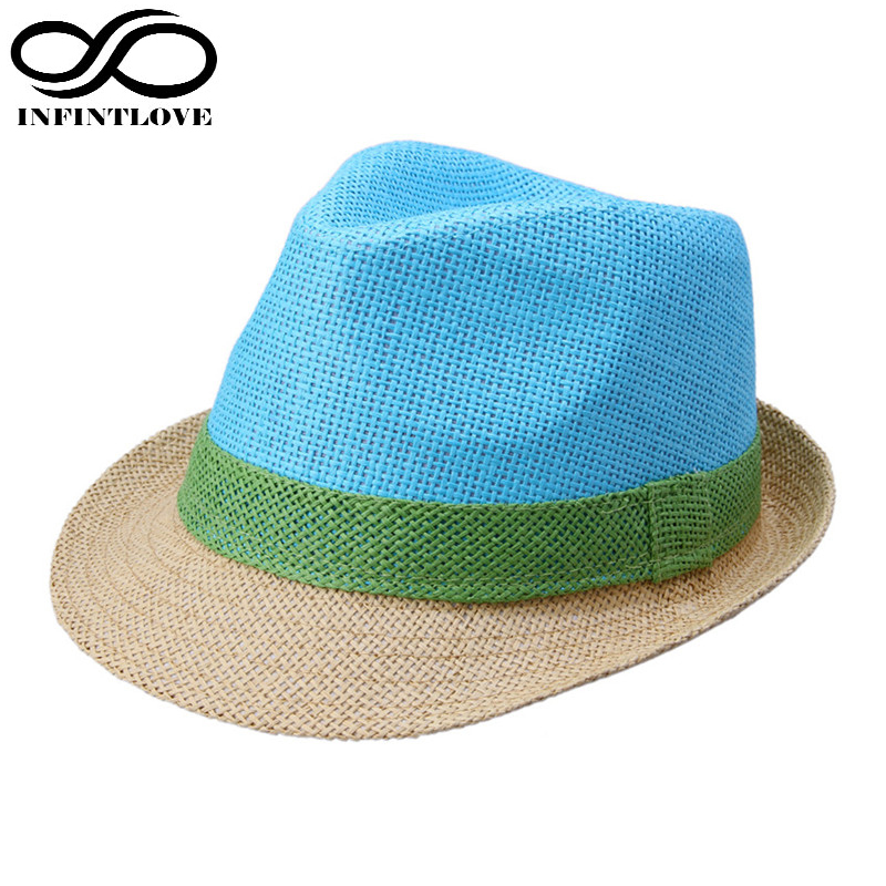 LUCKYLIANJI Fashion Chapeu Candy Color Fluorescence Men Women Fedora Jazz  Cap Beach Summer Casual Sun Panama ed826b0bac1c