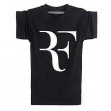 KANYSP Tenni Federer RF T-shirt men casual round neck tees tops 100% cotton men's shirts 2016 Men's Clothing Free shipping