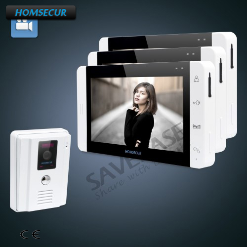 HOMSECUR 7 Wired Hands-free Video&Audio Intercom with White Camera and Monitor 1C3MHOMSECUR 7 Wired Hands-free Video&Audio Intercom with White Camera and Monitor 1C3M