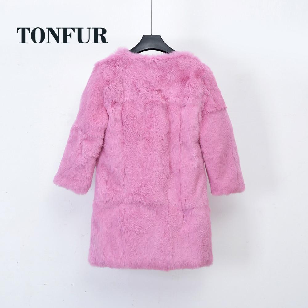 Usine en gros au détail personnaliser grande taille grand Multi couleurs prix de gros 100% naturel lapin fourrure manteau femmes pardessus WSR251-in Réel De Fourrure from Mode Femme et Accessoires    3