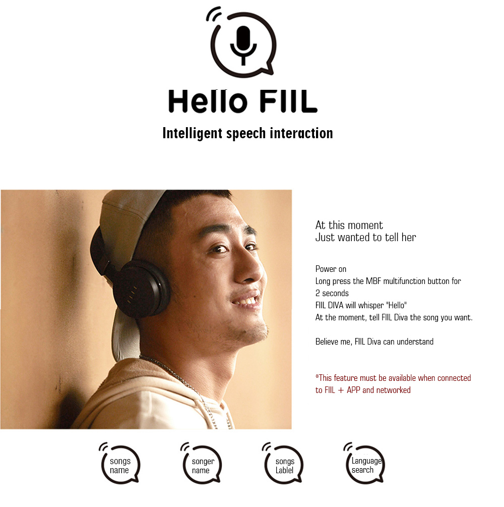 FIIL DIVA Headphones Bluetooth 4.1 HiFi Active Noise Cancelling Headset High Quality New Earphone for Music Lover Headphones (3)