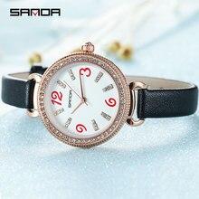 цена на 2019 SANDA Fashion Women Watches Top Brand Luxury Leisure Ladies Watch Quartz Waterproof Wrist Watch Relogios Feminino