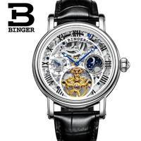 Switzerland Binger New Luxury Casual Clock Men Automatic Watch Skeleton Business Watches Mechanical Relogio Male Watch Relojes