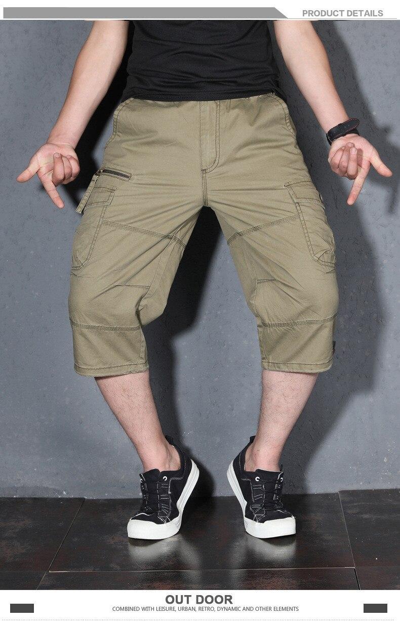 calças de sete pontos casual calças de