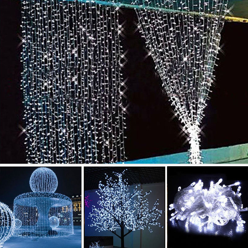 10m 100 christmas lights wedding xmas party decor outdoor fairy led string light lamp 220v 6w waterproof leds strip lighting in lighting strings from lights