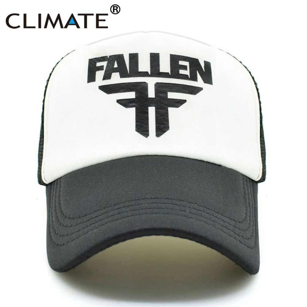 6c8cdfb27e3 CLIMATE Men Women Cool Trucker Caps FALLEN Skateboard Fans Mesh Caps Cool  Summer Baseball Mesh Net
