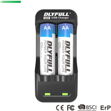 DLYFULL U2 nicd nimh aa aaa charger for AA AAA Ni-Cd Ni-Mh Rechargeable Batteries charger with LED Display USB(China)