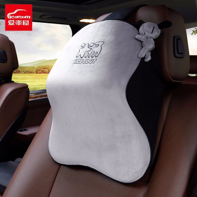 Us 30 99 40 Off Icaroom Breathable Fiber Space Cotton Pillow Everlasting Comfort Car Neck Waist Soft Support Vehicle Cushion Supplies T 602m في