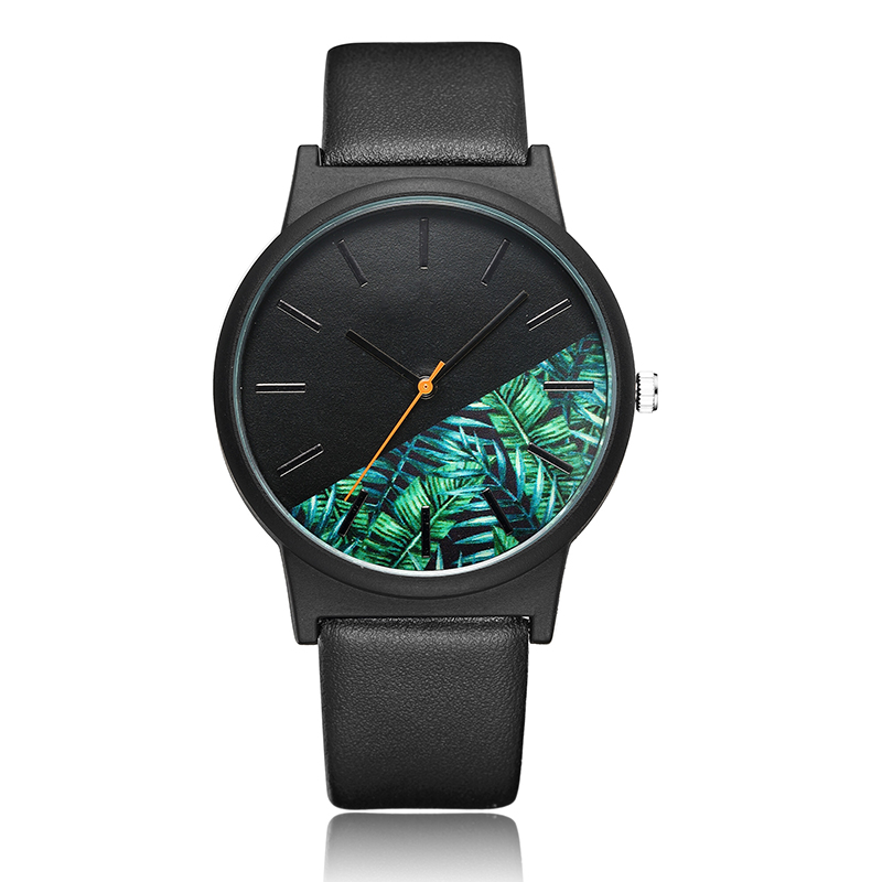 Fashion Tropical Jungle Design Watch Men Women Unisex Unique Quartz Wrist Watch For Ladies Creative Sport Men Watches Clock Gift купить в Москве 2019
