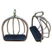 horse Riding Racing Equipment, stirrup,with rubber pad ,Equestrian Saddle Accessories,  Paardensport Hipica A