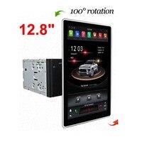 Универсальный 12,8 1280*720 2 Din Tesla Тип Android 8,1 PX6 Автомобильный мультимедийный dvd плеер gps навигации автомобильное радио, DVD плеер