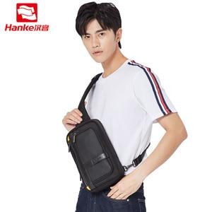 Image 5 - Hanke novos homens crossbody sacos do mensageiro escola masculino estilingue sacos de peito para o trabalho resistente à água viagem cruz cintura ombro saco