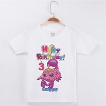 Hot Sale Boys T-shirt Girl Happy Birthday Scorpio Printing Top Cotton Half Children Clothing Kids T Shirts Girls Tops Boy Tshirt