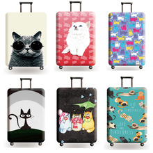 New Suitcase Elastic Dust Cover Luggage Case for 18~32 inch Password Box Trolley Case Cat Pattern Protective Cover hot fashion traveling on the road suitcase case protective case cover trolley bus case trip suitcase dust cover for 18 to 32 inc