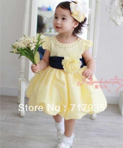 Hot Selling New Arrival Pretty Baby Girl Princess Dress Floral Girls Dresses Kids -1976