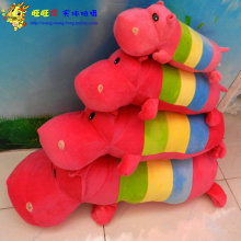 cute lovely hippo toy plush doll colorful cartoon hippo doll gift toy about 55cm
