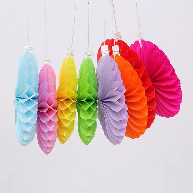 1pcs 6inch Paper Flower Ball Wedding Props Arranged Color Paper Fan