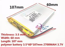 best battery brand Cool than talk 7 x 7 xs U51GT dual quad-core eight nuclear batteries are 3560107 3.7V 2700MAH 3560105(China)