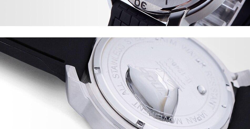 SINOBI Surfing Clock 3Bar Waterproof Watch Mens Sports Wristwatch Designer Branded Chronograph Male Spy Geneva Quartz-watch 007 12