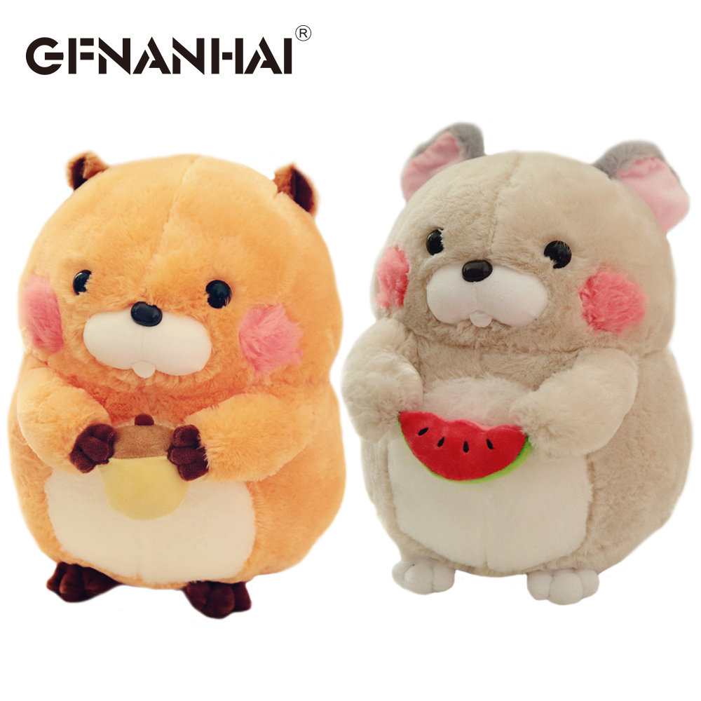 Hot Sale 1pc 30cm Cute Animal Marmot Plush Toy Stuffed Soft Kawaii 4ch Remote Control Circuit Board Pcb Transmitter Receives Antenna Toys Pillow Lovely Pet Hamster Dolls For Children Lover Birthday Gift