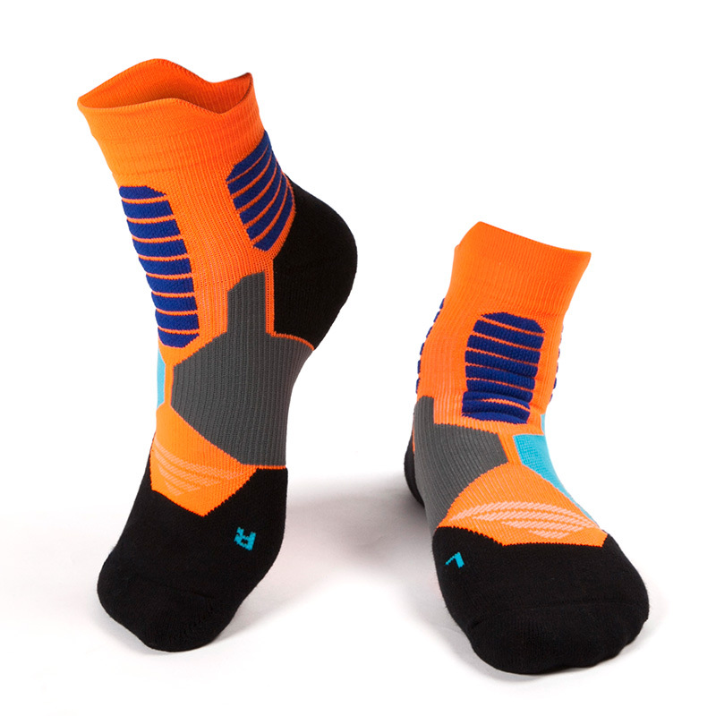 Basketball Sweat Towels: Professional Men Winter Running Socks Sweat Thick Towel