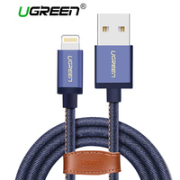 Ugreen MFi Lightning Cable For iPhone 6 6s 7 Denim USB Cable Fast Charger Data Cable for Apple iPhone 5 5s iPad Air Mini Cable