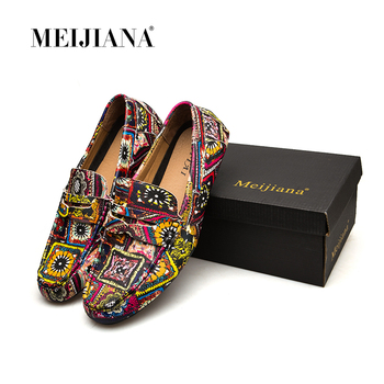 MEIJIANA Brand Leather Men Flats 2018 New Men Casual Shoes High Quality Loafers Driving Shoes Colorful Fashion Boat Shoes 1