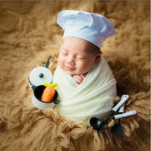 Baby Photo Props Chef Wraps Hats Photo Costume Hamburger Bread Props Wood  Photography Accessories Realistic Bun Food Squishies X a4cf694a6a18