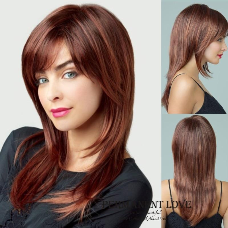 Corte de cabello en tres capas rectas