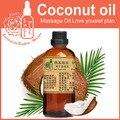 Base de aceite de masaje de aceites esenciales 100% puros de la planta de aceite de coco 100 ml No solidificado aceite Portador