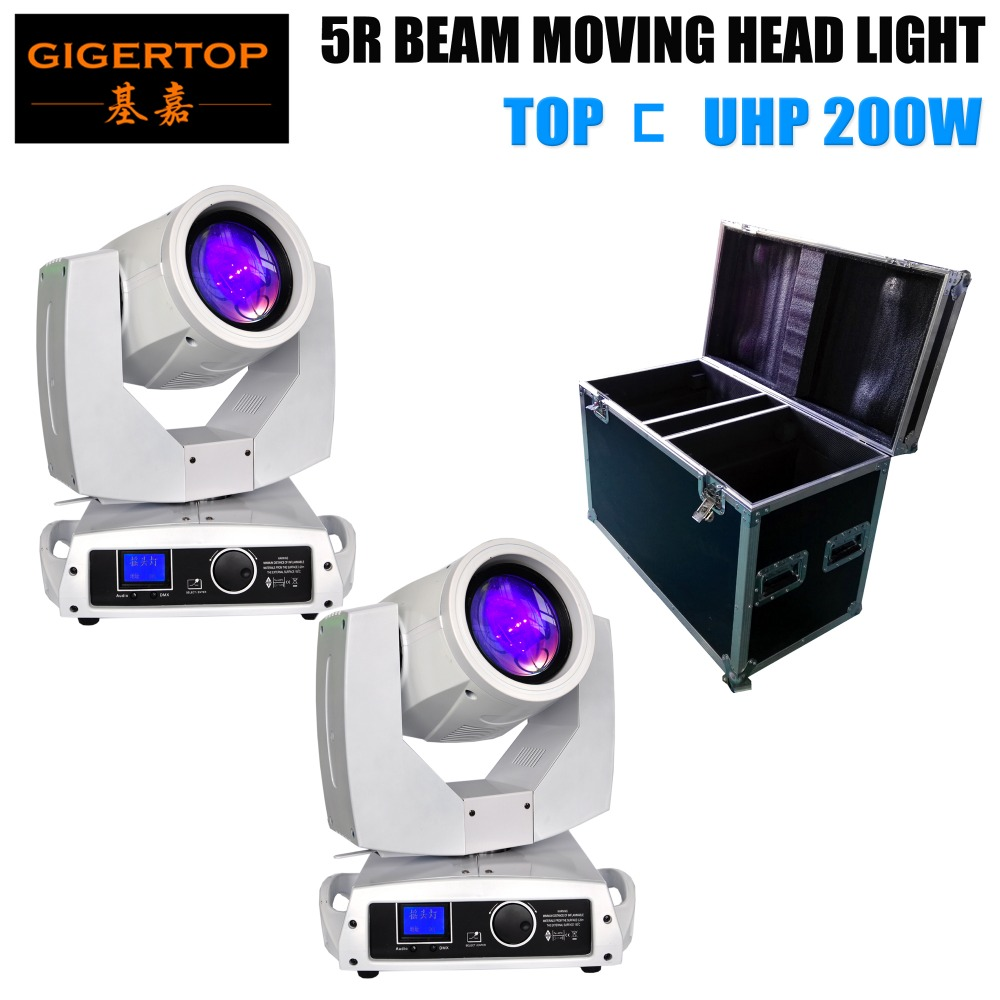 TIPTOP 2 x 200W 5R with 2in1 road case Sharpy Beam Moving Head dj disco party stage light show white color housing Original Lamp