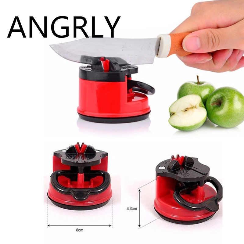 ANGRLY bıçak kalemtıraş makas değirmeni güvenli emiş şef ped mutfak bileme aracı sıcak! YKS sıcak arama japon Grindstone