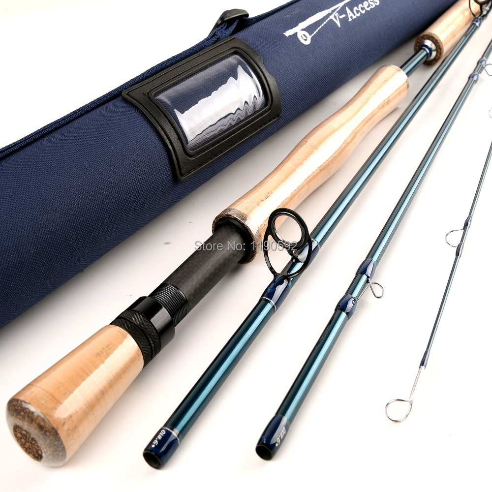 Fly Fishing Rod  24T SK Carbon 9FT 10WT 4PCE Fly Rod Half-well Fast  Action  With Cordura Tube Carbon Fly Rod high quality 2 43m fly fishing 4 sections portable 66cm ultralight carbon fishing rod medium fast action fly rod tenkara fr166