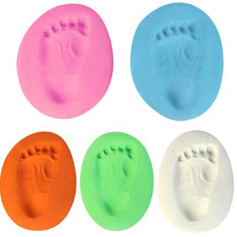 1pc Baby Hand Print Footprint Imprint Kit Casting Baby Air Drying Soft Clay Parent-child Hand Ink Pad Fingerprint Memory Funny
