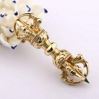 Tibetan Buddhism pure copper five arms of pestle drop demon pestle master Devotional carry exquisite/ necklace pendant