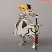 Free Shipping Figma Action Figure Toys Anime Fate Stay Night Cute 15cm Beautiful Girl Saber Lily PVC Figure Collection Crafts