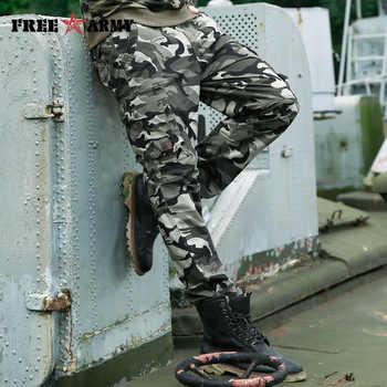 Autumn Brand Men Fashion Military Cargo Pants Multi-pockets Baggy Men Pants Casual Trousers Overalls Camouflage Pants Man Cotton