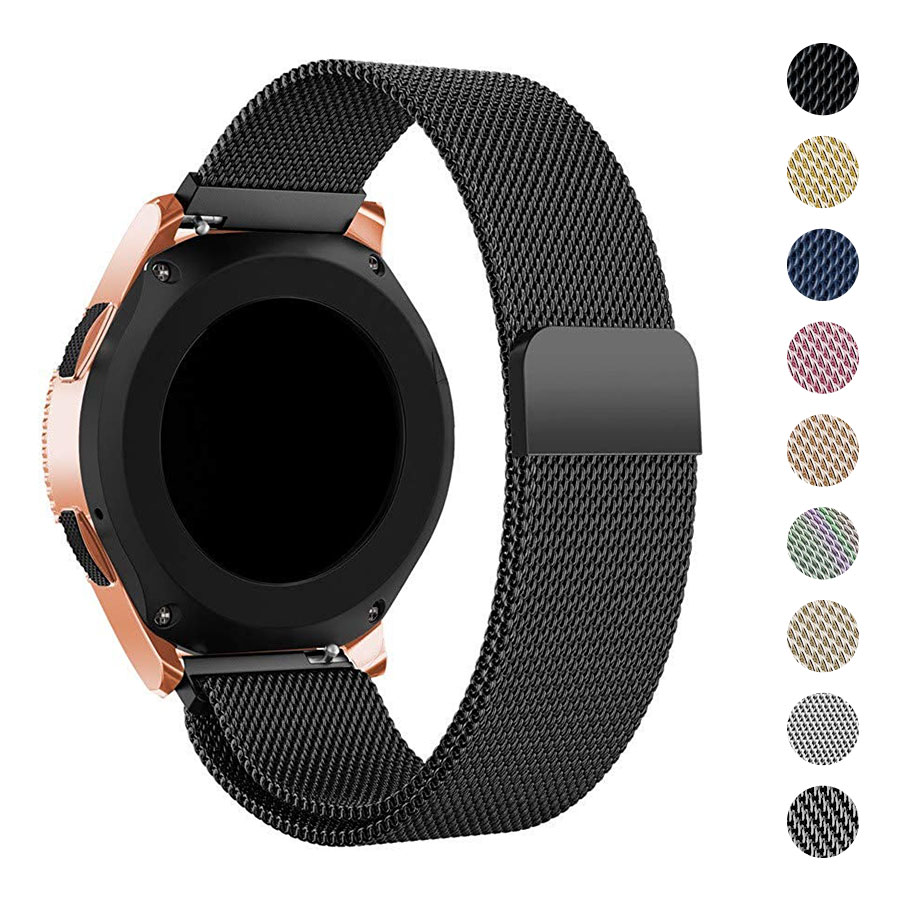 20mm Milanese Loop Watch Band For Samsung Gear S2 Stainless Steel Watch Straps For Samsung Galaxy Watch 42mm HUAWEI Smartwatch