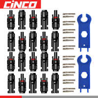 10pairs x MC4 connector with 1pair Spanner connected solar panel Plug cable 2.5mm2 4mm2 and 6mm2 waterproof