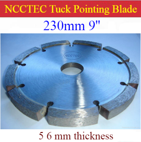 9'' Diamond Tuck Point Blade B9TP / 230mm Concrete Wall Tuck Pointing GROOVING Tools / 5 6mm Thick Segment