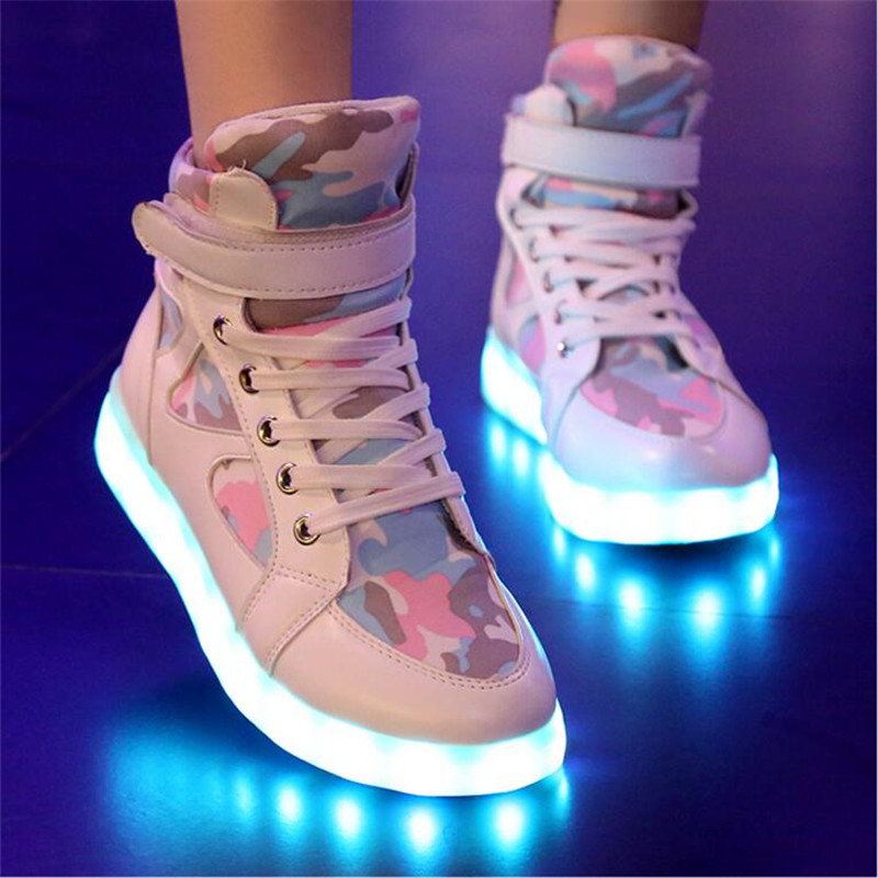Shoes Men's Shoes Special Section Usb Charger Glowing Luminous Sneakers Feminino Baskets With Light Led For Men Light Up Shoes Tenis Masculino Adulto