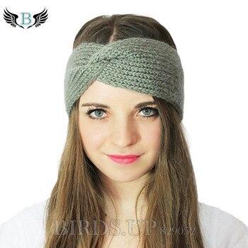 Winter Knitted Twist Headband For Women Girls Warmer Ear Wool Turban Hairband Headwrap Bandage Hair Accessories Haarband Bandeau