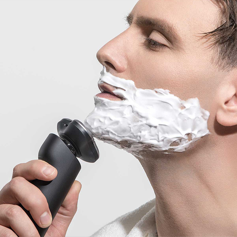 цена Xiaomi Mija Electric 360 Degree Float Shaving Waterproof Electric Shaver Razor Head 3 Dry Wet Washable USB IPX7 Xiaomi Shaver