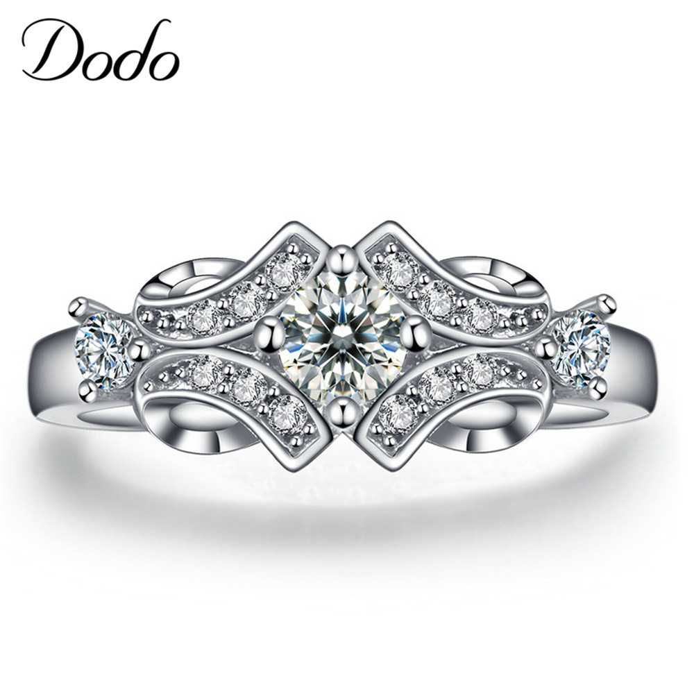 New flower Wedding engagement Rings for women vintage anillos de plata shape Bijoux Accessories bague femme jewelry DR025